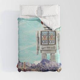 Robot in Town Comforters