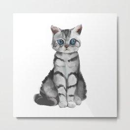 blue eyes cat Metal Print