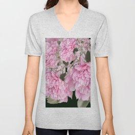 Pink Bouquet On A Black Background  #society6 #buyart Unisex V-Neck