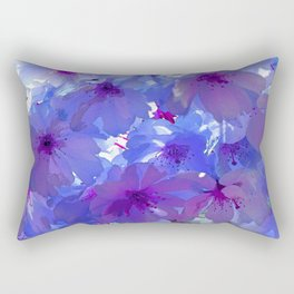 Blue Cherry Blossoms Rectangular Pillow