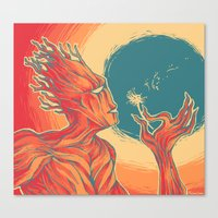 groot Canvas Prints featuring groot by Catus