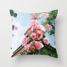 Paris in the Springtime  Throw Pillow