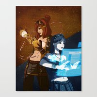 steam punk Canvas Prints featuring Steam/Cyber Punk by Waffle Guru