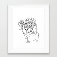 mirror Framed Art Prints featuring Mirror. by sonigque