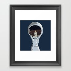 hand with reflecting space Framed Art Print