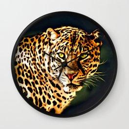 Leopard Digital Painting Wall Clock