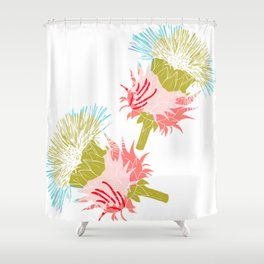 Pure flower Shower Curtain