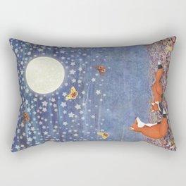 moonlit foxes Rectangular Pillow