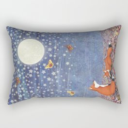 moonlit foxes Rectangular Pillow