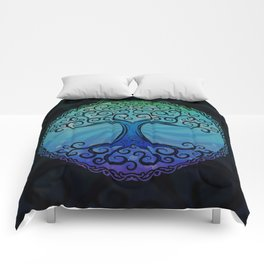 Tree of Life - Cool Blue Comforters