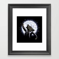 Howling at the Disco Moon Framed Art Print