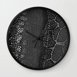 Black Snake Skin Wall Clock