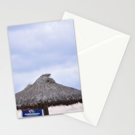 palm tree on the beach and in the sky, travel for leisure, Mallorca and enjoy Stationery Cards