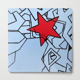 Winter Soldier Star Metal Print