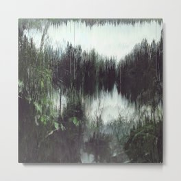 the lake at the end of It All Metal Print