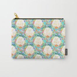 Be Wild Be Free - A tropical Floral Print Carry-All Pouch