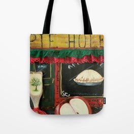 Pie Hole, Apple Pie, Mixed Media Art, by Faye Tote Bag