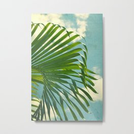 palm tree and clouds Metal Print