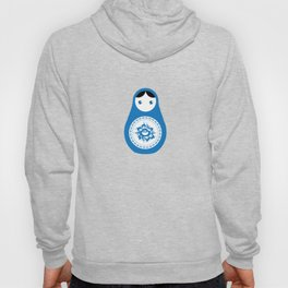 matrioshka doll - blue parttern Hoody