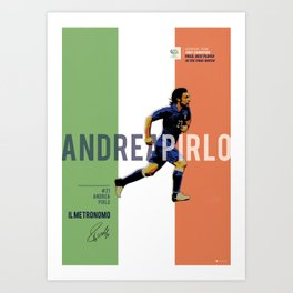 #21 Pirlo // World Cup • Football Stars  Art Print