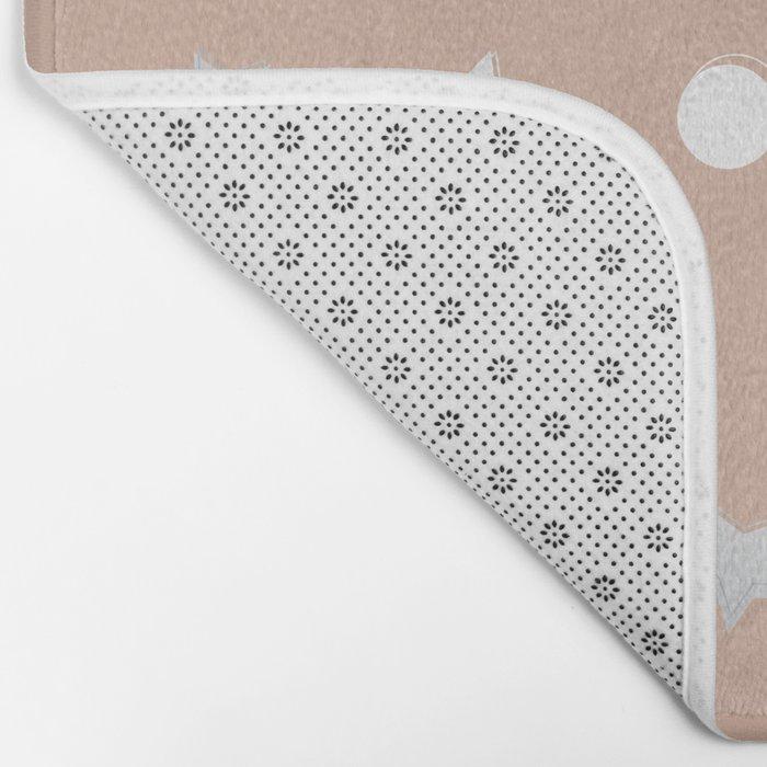 Silver Confetti Bath Mat