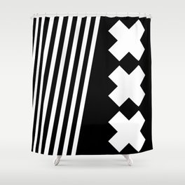 Bold Minimalism 2 (Black and White) Shower Curtain