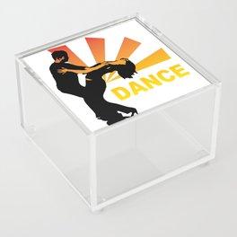 dancing couple silhouette - brazilian zouk Acrylic Box