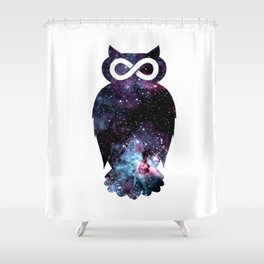 Super Cosmic Owlfinity Shower Curtain