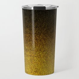 Yellow & Black Glitter Gradient Travel Mug