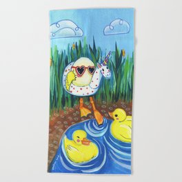 First swim Beach Towel