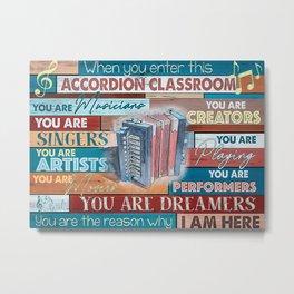 Accordion Accordion Classroom Metal Print
