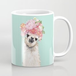 Llama with Flowers Crown #3 Coffee Mug