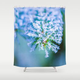 Bitter Cold, White Ice Crystals Shower Curtain