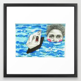 Monster from the deep Framed Art Print