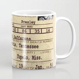 Elvis Presley Selective Service Certificate Coffee Mug