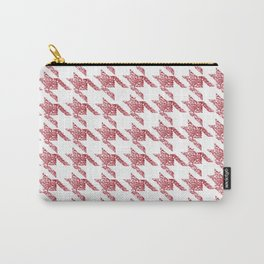 Rose gold houndtooth Carry-All Pouch
