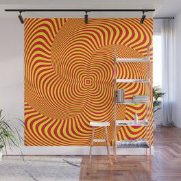 Red and Yellow Spiral illusion art Wall Mural