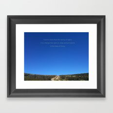 Travel is more than the seeing of sights Framed Art Print