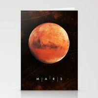 mars Stationery Cards featuring MARS by Alexander Pohl