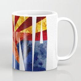 Arizona Typographic Flag Map Art Coffee Mug