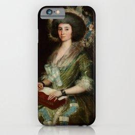 "Francisco Goya ""Portrait of Senora Ceán Bermudez"" iPhone Case"