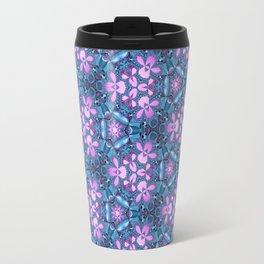 Abstract orchids pattern Travel Mug