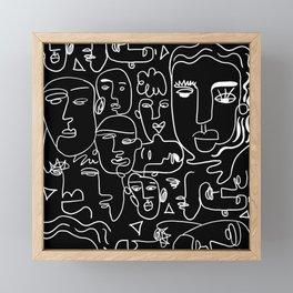 Faces on Black Framed Mini Art Print