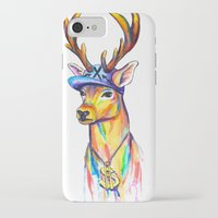 swag iPhone & iPod Cases featuring Swag Stag by Heather Hartley
