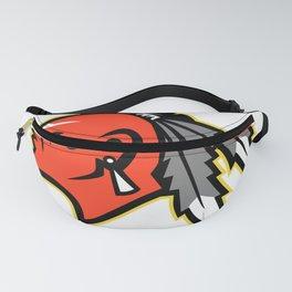 Mohawk Brave Warrior Head Side Mascot Fanny Pack