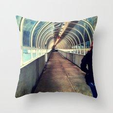 Onward Into The Tunnel Forbidden  Throw Pillow