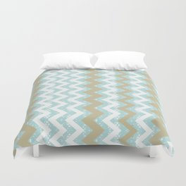 Chevrons and Dots Duvet Cover