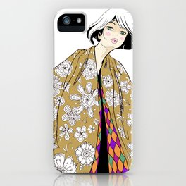Flowers and Diamonds iPhone Case
