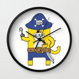 Pirate Meow Wall Clock