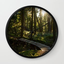 North Shore Trails in the Woods Wall Clock